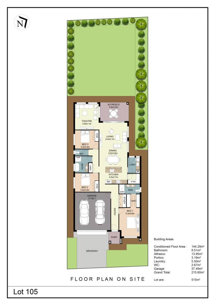 Lot 105 Clifton Gardens Floor Plan - Griffith Real Estate Agents - JZ Homes