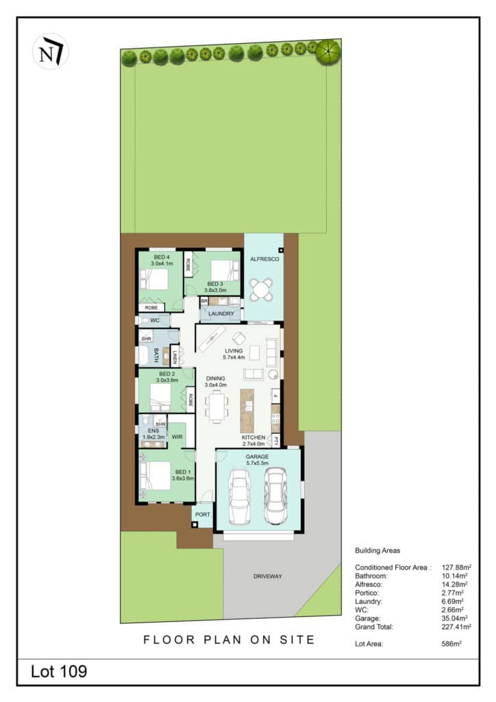 Lot 109 Clifton Gardens Floor Plan - Griffith Real Estate Agents - JZ Homes