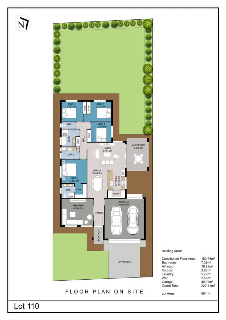 Lot 110 Clifton Gardens Floor Plan - Griffith Real Estate Agents - JZ Homes