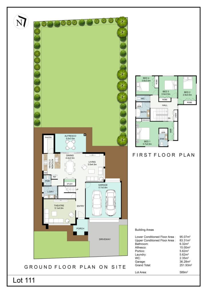 Lot 111 Clifton Gardens Floor Plan - Griffith Real Estate Agents - JZ Homes