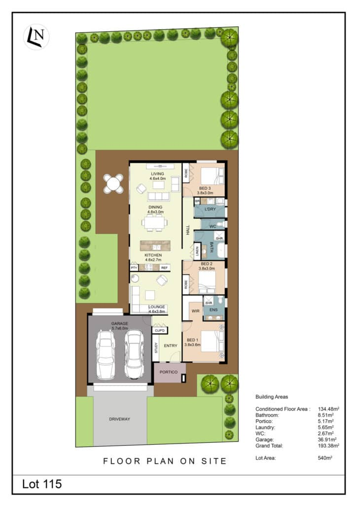 Lot 115 Clifton Gardens Floor Plan - Griffith Real Estate Agents - JZ Homes