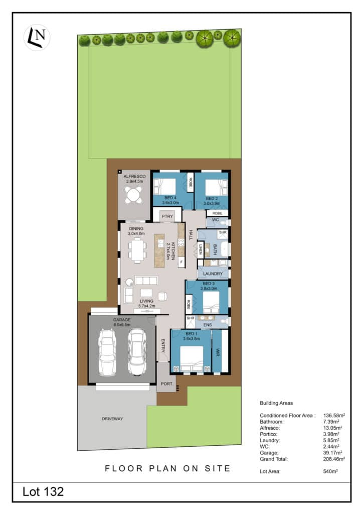 Lot 132 Clifton Gardens Floor Plan - Griffith Real Estate Agents - JZ Homes